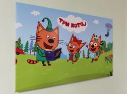 Картина - Постер (Три Кота). Размер: 600x900 мм.