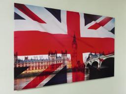 Картина - Постер (Флаг Соединённого Королевства Великобритании). Размер: 600x900 мм.