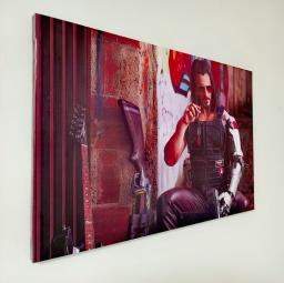 Картина - Постер (Cyberpunk 2077 Джонни). Размер: 400x600 мм.