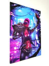 Картина - Постер (Cyberpunk 2077 Девушка Киборг). Размер: 600x420 мм.