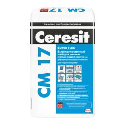 СМ 17 Супер эластичный клей CERESIT/церезит 25 кг.