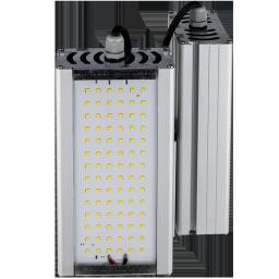 Уличный консольный светодиодный светильник двойной под углом модули 64Вт 4000К IP67 8960Лм (VRN-UNE-64D-G40K67-K90)