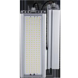 Уличный консольный светодиодный светильник два модуля под углом 124Вт 4000К IP67 17360Лм (VRN-UNE-124D-G40K67-K90)