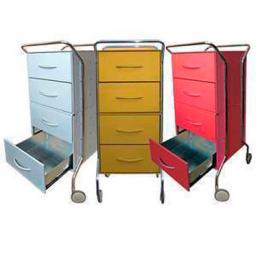 Офисная металлическая тележка для документов с четырьмя ящиками