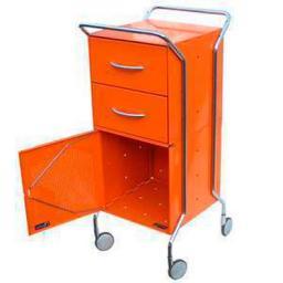 Офисная металлическая тележка для документов с двумя ящиками и полкой