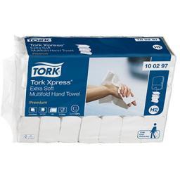 Ультрамягкие листовые полотенца Tork Xpress Premium Mfold сложения Multifold