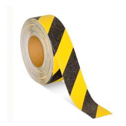 Противоскользящая самоклеющаяся лента (черно-желтая)