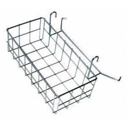 Металлическая сетчатая корзинка для двухведерных уборочных тележек