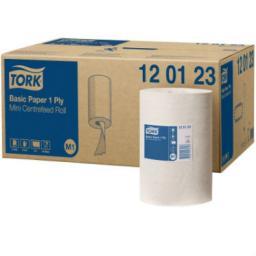 Tork базовая протирочная бумага в мини рулоне с центральной вытяжкой