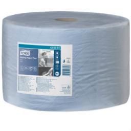 Tork Плюс протирочная бумага в рулоне голубая