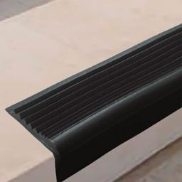 Угловая самоклеящаяся противоскользящая накладка на ступени (черная)
