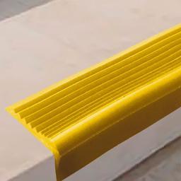 Угловая самоклеящаяся противоскользящая накладка на ступени (желтая)