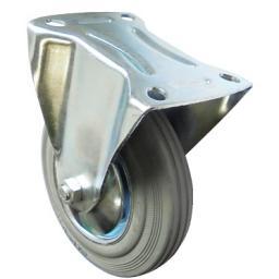 Промышленное неповоротное колесо с площадочным креплением (без тормоза)
