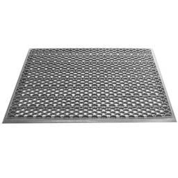 Грязезащитный входной коврик из ПВХ-модулей Scrub-10 серый