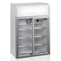 Шкаф холодильный со стеклом tefcold fsc100-i