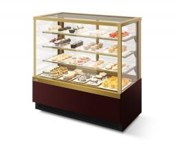 Витрина кондитерская vete kub lux 130 шоколад/золотой глянец