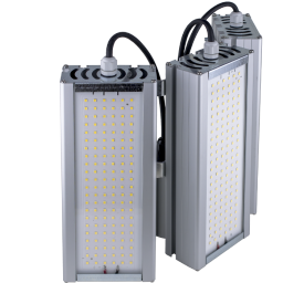 Уличный консольный светодиодный светильник три модуля под углом 144Вт 4000К IP67 20160Лм (VRN-UNE-144T-G40K67-K90)