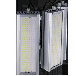 Уличный консольный светодиодный светильник три модуля под углом 186Вт 4000К IP67 26040Лм (VRN-UNE-186T-G40K67-K90)