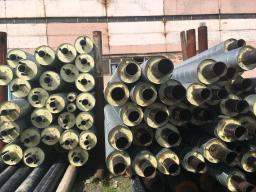 Стальная труба в ППУ изоляции в ПЭ оболочке д= 57х3,5/140 мм