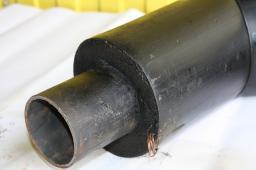 Стальной отвод из пенополиуретана в полиэтиленовой оболочке д=89/180 мм