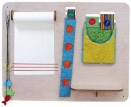 Изо-уголок малый с тканевыми карманами