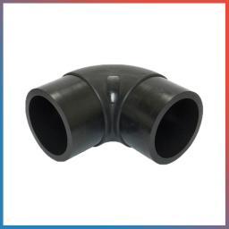 Отвод ПП (колено) 90° с рез. кольцом (рыжый) для наруж. канализации, Дн 110