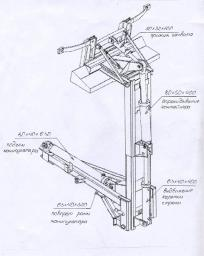Манипулятор МК-3451-03 на мусоровоз в сборе с ГЦ