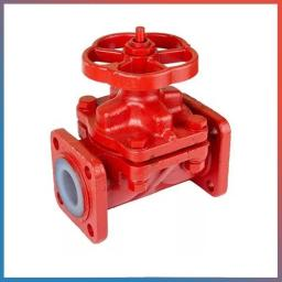 Клапан запорный мембранный футерованный 15ч75п2м Ду50