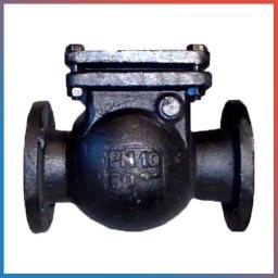 Клапан обратный 19ч16бр Ду 80 Ру 16 поворотный фланцевый чугунный