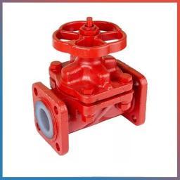 Клапан запорный мембранный футерованный 15ч75п1 Ду50