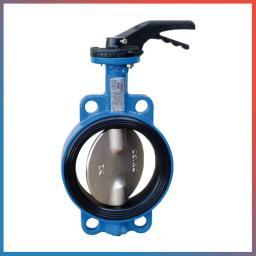 Затвор дисковый поворотный межфланцевый ABRA-BUV-VF826D080H с рукояткой
