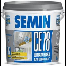 SEMIN СЕ 78 (для швов, серая крышка) 8кг Шпатлевка полимер.