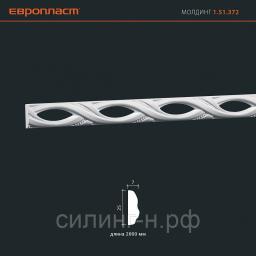 Полиуретановый молдинг (25*7*2000) Европласт 1.51.372