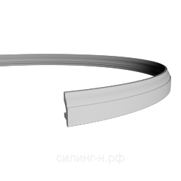 Гибкий полиуретановый плинтус (66*20*2000) Европласт 1.53.111