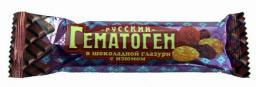 Русский Гематоген с изюмом в шоколаде