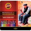 Koh-I-Noor Набор акварельных карандашей 24 цв. цветные в жести 3724024001PL