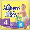Трусики Libero Dry Pants 4 (7-11 кг) 20 шт.+2 в подарок