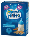 Кашка ФрутоНяня Молочно-пшеничная с пребиотиками жидкая с 6 мес. 200 мл