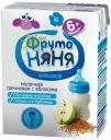 Кашка ФрутоНяня Молочно-гречневая с яблоками с пребиотиками жидкая с 6 мес. 200 мл