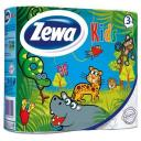 Туалетная бумага Zewa Kids трехслойная, 4 рулона