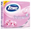 Туалетная бумага Zewa Deluxe Орхидея трехслойная, 4 рулона