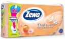 Туалетная бумага Zewa Deluxe с ароматом персика трехслойная, 8 рулонов
