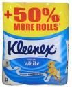 Туалетная бумага Kleenex Cottonelle Delicate White не ароматизированная, двухслойная 12 рулонов