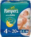 Подгузники Pampers Active Baby 4 (7-14 кг) 20 шт.