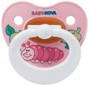 Пустышка Baby Nova латексная ортодонтическая с рисунком 0-3 мес. 1 шт.