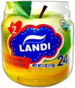 Пюре LANDI Organic Яблоко, банан с 6 мес. 113 г