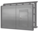 Ворота распашные гаражные ВГ-2