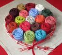 Цветные льняные полотняные салфетки 45х45 с мережкой