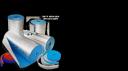 рулонный самоклеящийся материал Пенофол 2000 тип С 05 (рулон 18 квм)