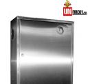 Пожарные шкафы ШПК-310 НЗ из нержавеющей стали для пожарного крана навесной закрытый или встроенный